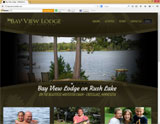 Website Design - Bay View Lodge Crosslake - Image